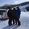 Jacob in the middle.  First time trying out ski's  Loon Mountain.  Dec 2018
