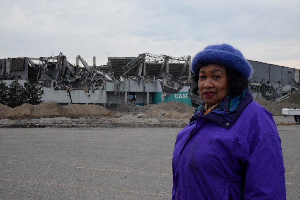 . Pontiac�s Mayor Deirdre Waterman outside the Pontiac Silverdome on Monday, Dec. 4.