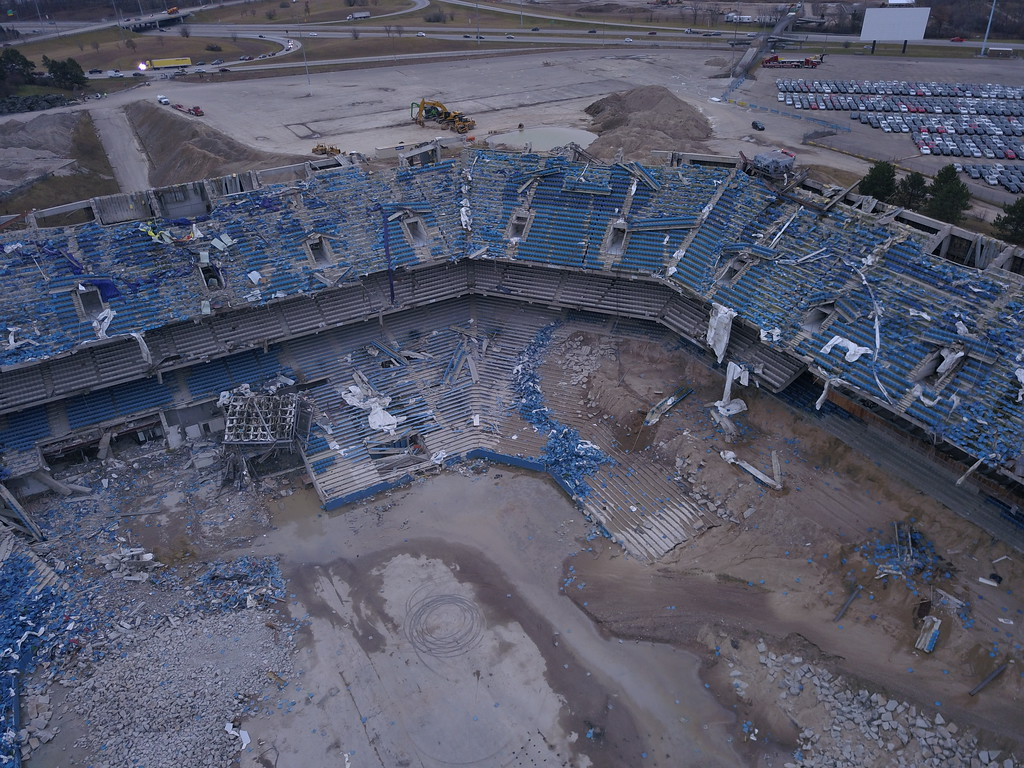 . A second attempt at imploding the upper ring of the Pontiac Silverdome was a success on Monday, Dec. 4. The first attempt a day beforehand failed due to 10 percent of the explosives not detonating. Clean-up work and knocking down the remaining portion of the dome via hydraulic excavator is now set to begin.