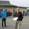 Guest Tour Leader, John Parodi, hold the rider's meeting. Michael Okada and Don Wilson listen. Don wilson rode sweep.