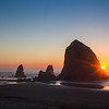 Pacific Sunset at Haystack Rock