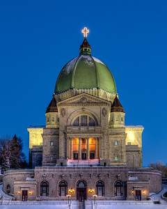 Saint Joseph's Oratory on a Winter Evening