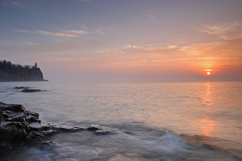 Split Rock lighthouse at sunrise