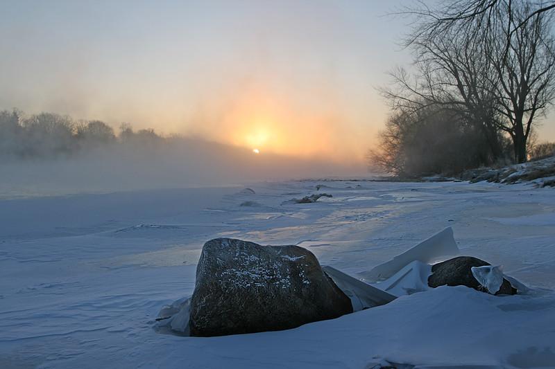 Steamy river sunrise, Monticello MN
