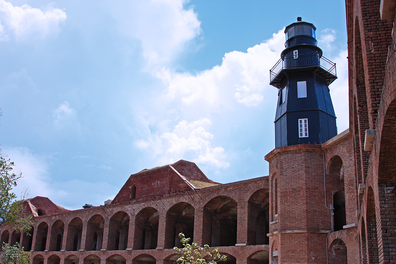 Fort Jefferson with afternoon thunderclouds
