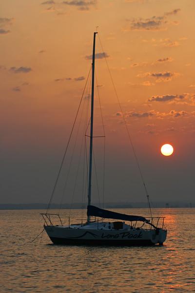 Sailboat in sunrise