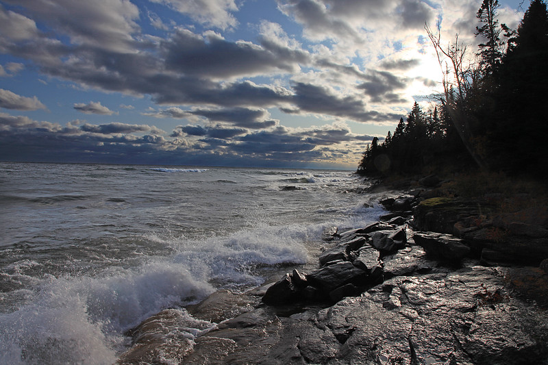 Lake Superior late afternoon sky