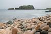 Pink boulder beach