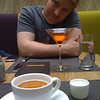 Dan with cocktail at Urban Farmer