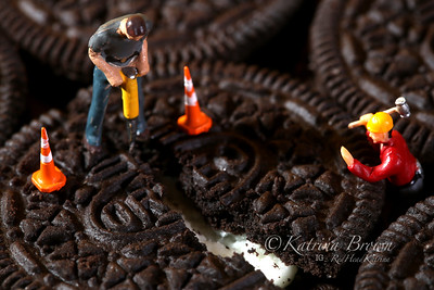 Construction Workers in Conceptual Imagery With Cookies