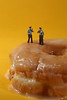 Police Officers in Conceptual Food Imagery With Doughnuts