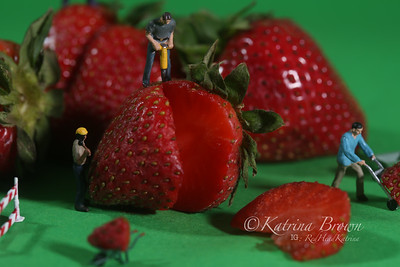 Construction Workers in Conceptual Food Imagery With Strawberries