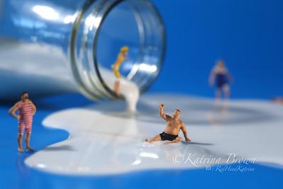 Plastic People Swimming in Milk