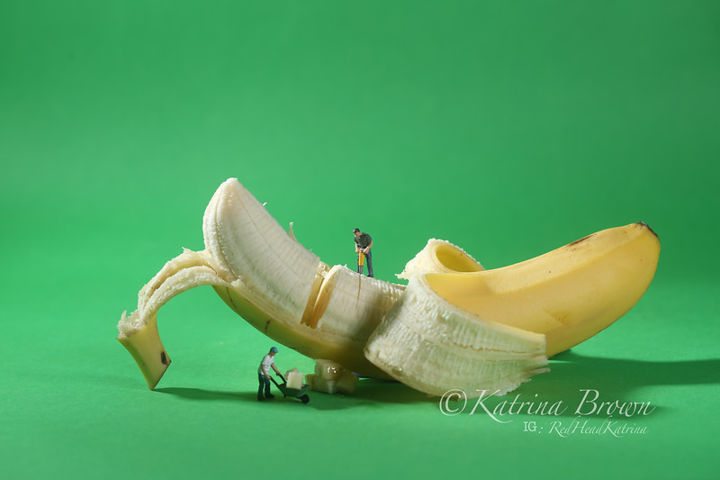 Construction Workers in Conceptual Food Imagery With Banana