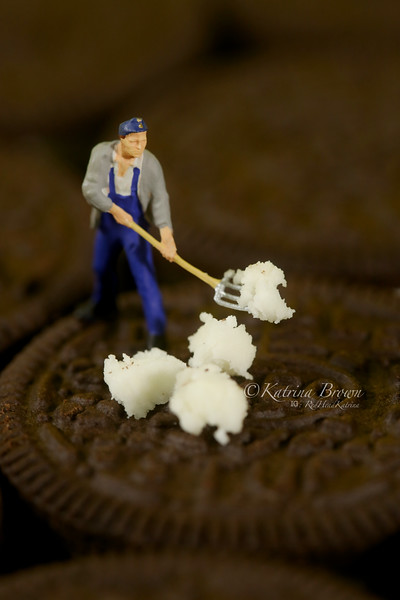 Plastic People Cleaning Up a Messy Cookie