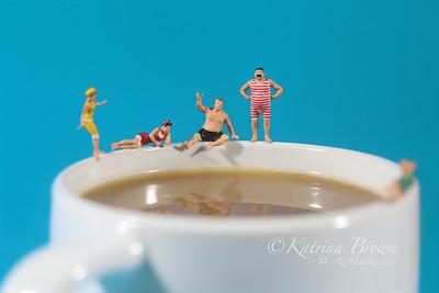 Plastic People Swimming in Coffee