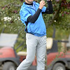 Ichabod Crane's Trevor Wolfe grimaces after his tee shot off the 10th Friday afternoon during the Section 2 state qualifier at Orchard Creek Golf Course in Altamont.