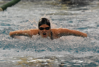 STAN HUDY - SHUDY@DIGITALFIRSTMEDIA.COM Shenendehowa sophomore Shauna Killane swims the butterfly leg of the 200-yard IM at the Section II Div sion I swimming and diving championships Saturday, Nov. 5, 2016.