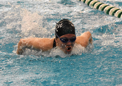 STAN HUDY - SHUDY@DIGITALFIRSTMEDIA.COM Shenendehowa junior Jessica Salmon comes up out of the water duirng the butterfly stroke leg of the 200-yard IM at the Section II Divsion I swimming and diving championships Saturday, Nov. 5, 2016.