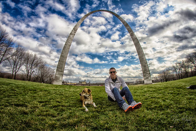Pit stop at the St. Louis Arch