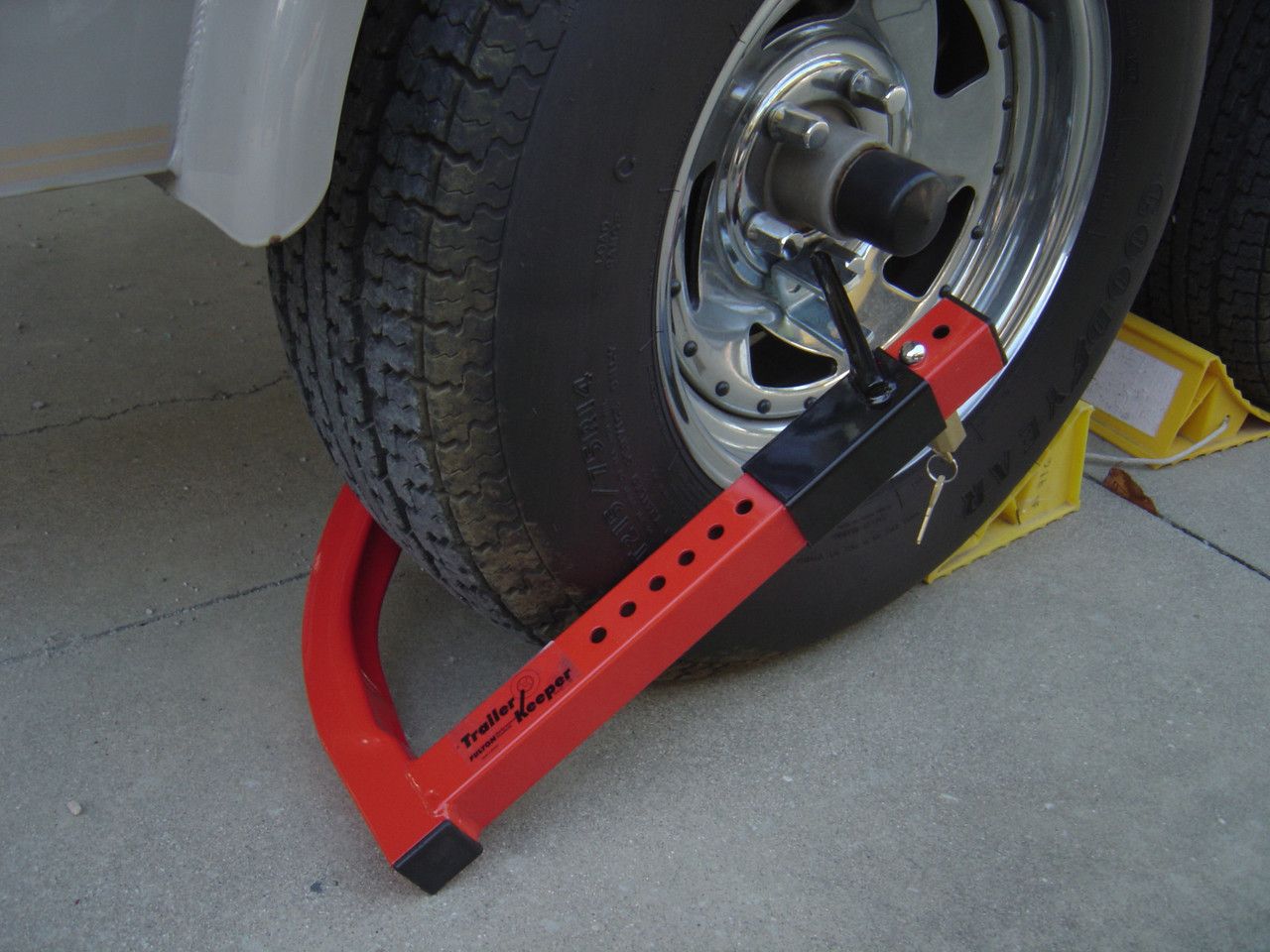 This is the Trailer Keeper lock position on a tire,