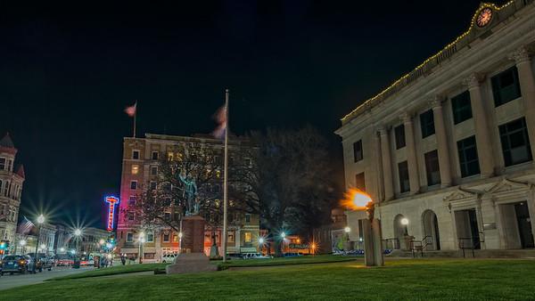 Sedalia Square at Night-3