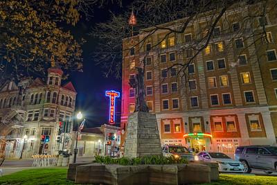 Sedalia Square at Night