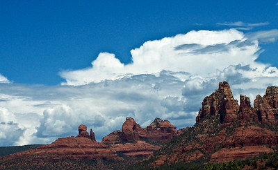 Sedona Swirling Clouds