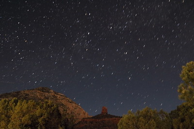 Chimney Rock Star Trails