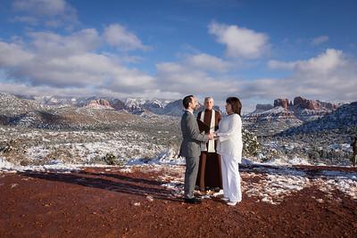 Wedding Tree Knoll Wedding in the Snow