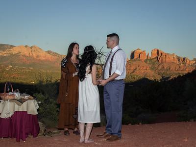 Sedona Native Wedding Ceremony with Shanandoah Sterling