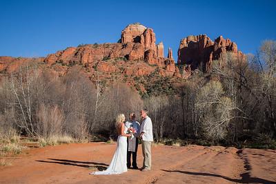 Crescent Moon Ranch  Winter Wedding Photos