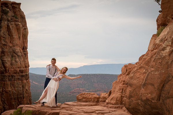 Hiking up Cathedral Rock Trail to get Married!