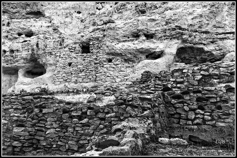 Detail of stonework around Montezuma Castle