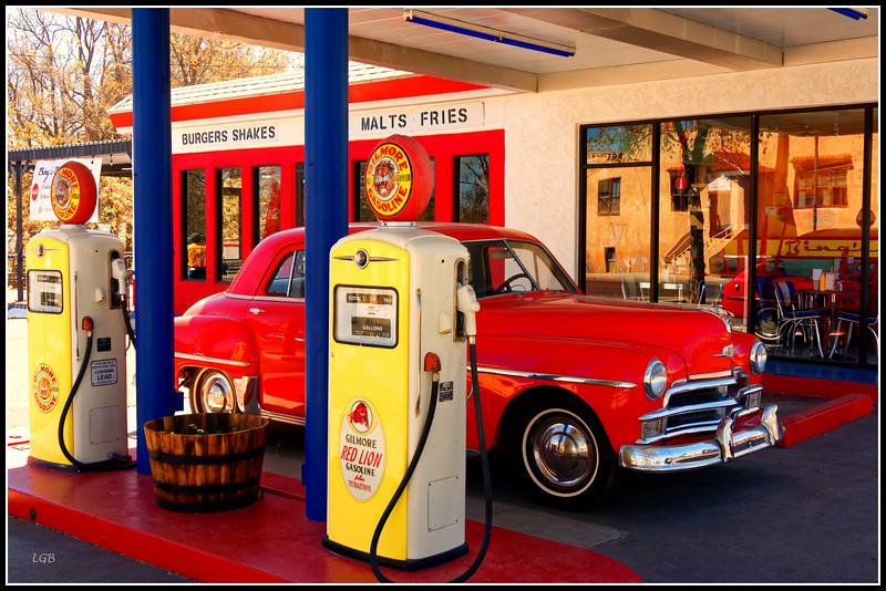 Bing's Burger Station, downtown Cottonwood.  1950 Chrysler Windsor.