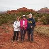 On Bell Rock Pathway with Chicken Point back right