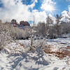 Cathedral Rock in Sedona After a Snow Storm