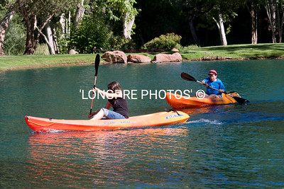 Kayaking on Los Lago lake.