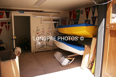 Inside Sedona Yacht Club boat house.