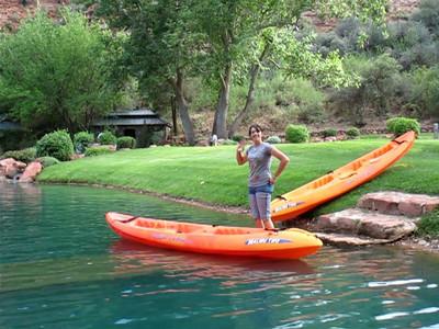 Video...Kayaking on lake.