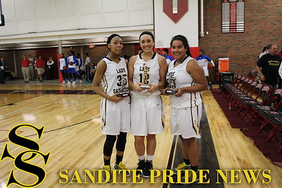 2015 Bishop Kelley Invitational All-Tournament Team: Sydney Pennington, Destiny Johnson, CJ Scott.