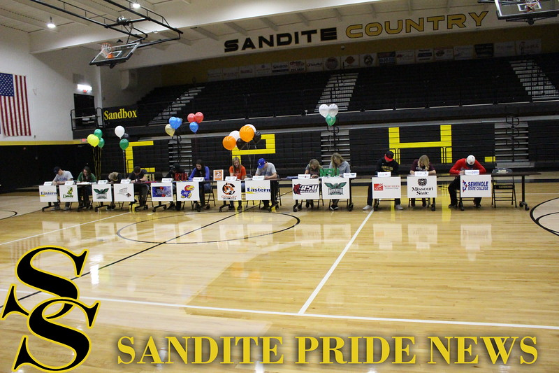 Thirteen Sandites sign collegiate letters of intent on National Signing Day.