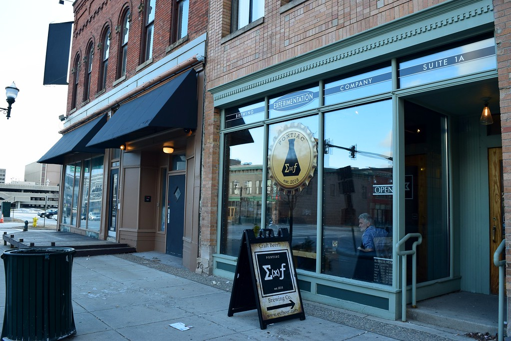 . Outside Exferimentation Brewing Co., 7 Saginaw St. in downtown Pontiac, on Thursday, Feb, 9, 2017.