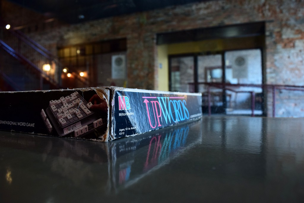 . Cards and boards games are left upon the tables at Exferimentation Brewing Co., 7 Saginaw St. in downtown Pontiac, on Thursday, Feb, 9, 2017.