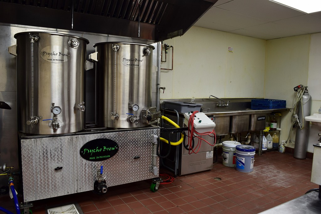 . The back room brewery at Exferimentation Brewing Co., 7 Saginaw St. in downtown Pontiac, on Thursday, Feb, 9, 2017.