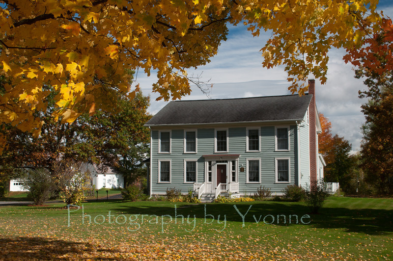 My sister's house in Saranac Hollow. Built 1840.