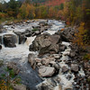 Ausable River flows through Wilmington Notch. Oct. 2012