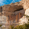 Montezuma Castle is a prehistoric cliff dwelling located about 52 miles east of Prescott, Arizona as part of the Montezuma Castle National Monument. The National Park Service preserves dwellings built by the Southern Sinagua culture between the years 1100 and 1425.