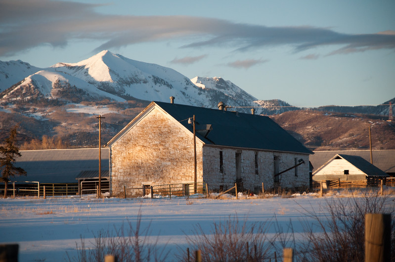 Site of original Fort Lewis military post turned Indian boarding school turned college. Now San Juan Basin Research Center. Located between Breen and Hesperus Colorado. La Plata Mountains stand proudly in the background.