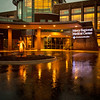 A rainy summer night outside Mercy Medical Center, Durango, CO July 2012